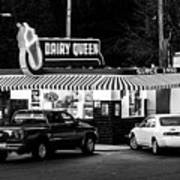 Vintage Dairy Queen At Night Poster