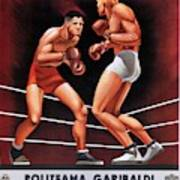 Vintage Italian Boxing Poster Poster