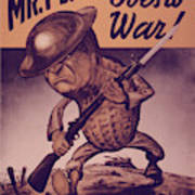 Vintage Poster - Mr. Peanut Goes To War Poster