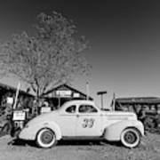 Vintage Race Car Gold King Mine Ghost Town Poster