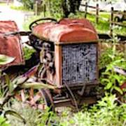 Vintage Rusted Tractor Poster