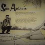 Vintage San Antonio Advertisement Poster