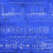 Vintage Titanic Blueprints Poster