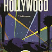 Vintage Travel Poster - Hollywood Poster