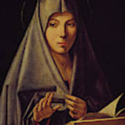 Virgin Annunciate By Messina Poster