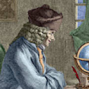 Voltaire In His Office In Vernay Poster