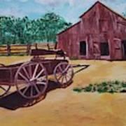 Wagons And Barns Poster