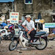 Waiting At The Fish Market, Hoi An, Vietnam Poster