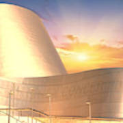 Wall Disney Concert Hall At Sunset Poster