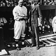 Walter Johnson And Connie Mack Shake Poster