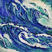 Watercolor - Ocean Wave Design Poster