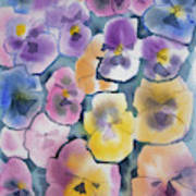 Watercolor - Pansy Design Poster