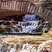 Waterfalls Through Stone Bridge Poster