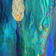 Watery Abstract Xviii - Women And Candles Poster