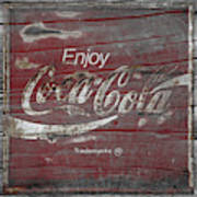 Weathered Coca Cola Sign Poster