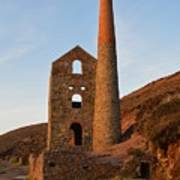 Wheal Coates Mine Chapel Porth Cornwall Poster
