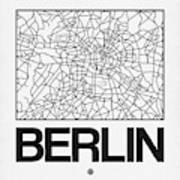 White Map Of Berlin Poster