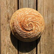White Sourdough Spiral Poster