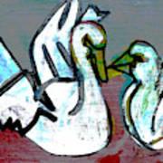 White Swans Poster