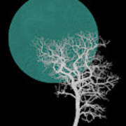 White Tree And Big Moon Poster