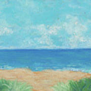 Windy Day At Lowdermilk Beach Poster