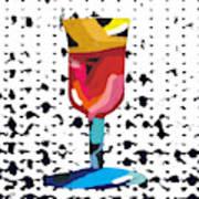 Wine And Matzo- Art By Linda Woods Poster