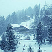 Winter In Gstaad Poster
