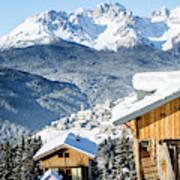 Winter Landscape On The Italian Dolomites Poster
