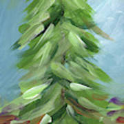 Winter Tree- Expressionist Art By Linda Woods Poster