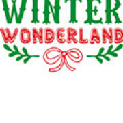 Winter Wonderland Christmas Secret Santa Snowing On Christmas Poster