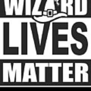 Wizard Lives Matter Retro Halloween Sorcerer Dark Poster