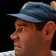 Wood Carving - Babe Ruth 002 Profile Poster