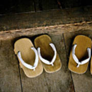 Wood Sandals Poster