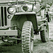 World War II Era Us Army Jeep Poster