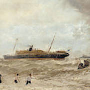 Wreck Of The Delhi Off Cape Spartel, 13th January 1911, Landing Of The Princess Royal, 1912 Poster