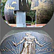 World War 2 Memorial Savannah Poster