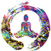 Zen Buddha-colorful Poster