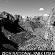 Zion Nationa Park Utah Poster