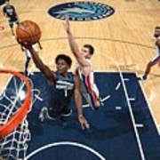 Detroit Pistons v Minnesota Timberwolves Poster