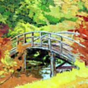 Drum Bridge in Autumn Poster