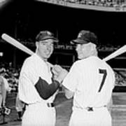 Joe Dimaggio and Mickey Mantle Poster