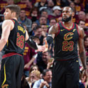 Kevin Love and Lebron James Poster