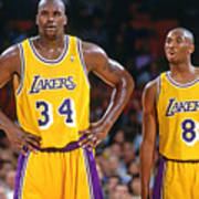 Kobe Bryant and Shaquille O'neal Poster