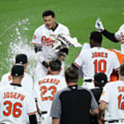 Manny Machado, Jonathan Schoop, and Adam Jones Poster