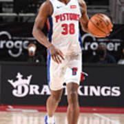 Milwaukee Bucks v Detroit Pistons Poster