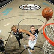 Minnesota Timberwolves v Brooklyn Nets Poster
