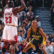 Reggie Miller and Michael Jordan Poster