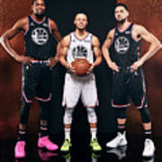 Stephen Curry, Kevin Durant, and Klay Thompson Poster
