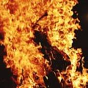 Closeup of Fire at time of festival Poster