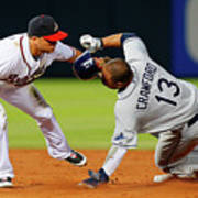 Carl Crawford and Martin Prado Poster